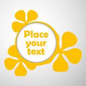 Floral frames text — Stock Vector