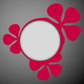 Dark floral frames flat — 图库矢量图片