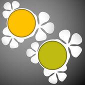 Floral frames white plastic — 图库矢量图片