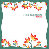 Floral background up down — Stock Vector