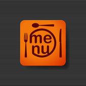 Restaurant menu icon — Stock Vector