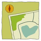 Outdoor icon map — Stock Vector