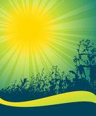 Spring sun theme text — Vecteur