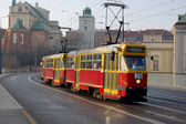 A red tram — Stock Photo