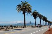 A road along the shore, Treasure Island, CA — Stock Photo