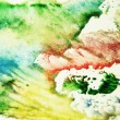 Colorful watercolor painted background — Stock Photo