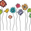 Vector de stock : Set of fantasy blob flowers