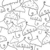 面白い傘でシームレスなパターン ベクトル — ストックベクタ