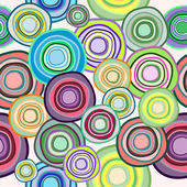 Vector seamless pattern of colored circles — Stock Vector