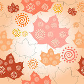 Vector seamless pattern of autumn leaves — ストックベクタ