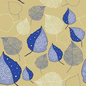 Vector naadloze patroon van de herfst bladeren — Stockvector