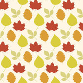 Vector pattern of autumn leaves. Eps 10. — Stock Vector