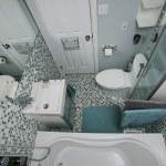Small modern bathroom — Stock Photo #25105281