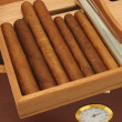 Stock Photo: Cigars in humidor