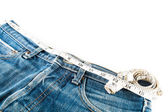 Tape measure and jean — Stock Photo