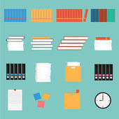 Vector Office Stuff set — Stock Vector