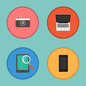 Vector of Device icon set.Notebook,camera,tablet,smartphone — Stock Vector