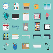 Vector of office stuff icon set — Stock Vector