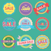 Vector of sale badges emblems — Stock Vector