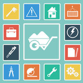 Vector of Construction Tools Icons set — Stock Vector