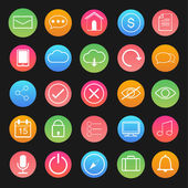 Vector of Computer and application icon set — Stockvektor