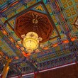 Chinese lamp and ceiling temple — Stock Photo