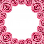 Постер, плакат: Circle Pink Rose Frame