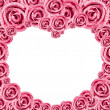 Heart Pink Rose Frame — Stock Photo