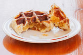 Waffle Filled With Pineapple Jam. — Stok fotoğraf