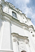 Facade of the church shot in perspectives — Stock Photo