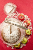 Applesauce raisin rum cake for christmas table — Stock Photo