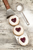 Homemade cookies Valentine's Day — Stock Photo