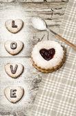 Homemade cookies Valentine's Day — Stock Photo