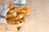 Garlic cheese bread sticks — Stock Photo