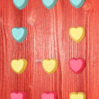 Valentine's Day Silicone molds for baking heart-shaped — Stock Photo