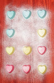 Valentine's Day Silicone molds for baking heart-shaped — Stockfoto