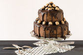 Whisky dort s arašídovou šlehačkou a čokoládou — Stockfoto