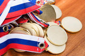 Gold medals — Stock Photo