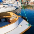 Yachts in marina — Stock Photo