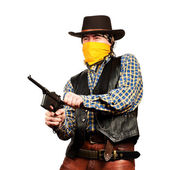 Wild west bank robbery — Stock Photo