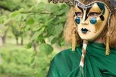 Krásná žena v karnevalové masce — Stock fotografie