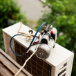 Стоковое фото: Preparing to install new air conditioner.