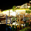 Stock Photo: BALI - DECEMBER 27: Nighttime, near entrance to shopping com