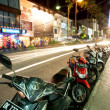 Stock Photo: BALI - DECEMBER 27: Nighttime, mopeds stays in parking at th