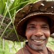 Stock Photo: BALI- DECEMBER 29: Closeup portrait of balinese farmer on Dec, 2