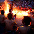 BALI - DECEMBER 30: traditional Balinese Kecak and Fire dance at — Stock Photo