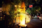 BALI - DECEMBER 27: Nighttime, walking street at Kuta's area on — Stock Photo