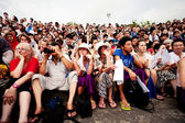 Spectators at traditional Balinese Kecak dance — Stock Photo