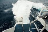 Acordar no oceano feito pelo navio de cruzeiro — Fotografia Stock