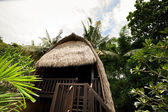 Thatch roof bungalow at tropical resort, Lembongan island, Indon — Stock Photo